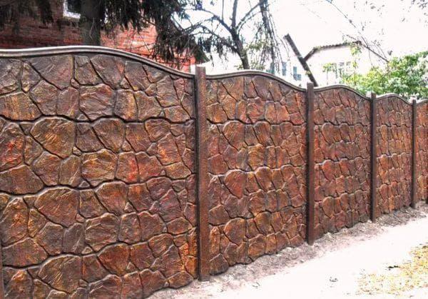 железобетонный забор для частного дома