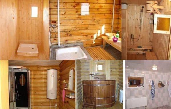 душ в бани 6х4