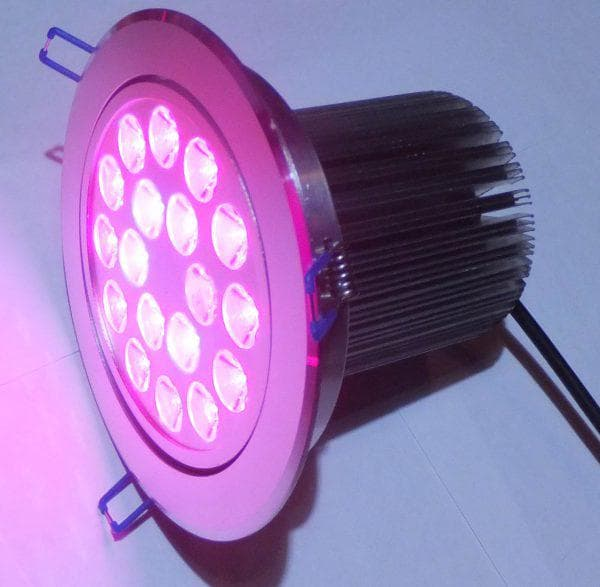 круглый светодиодный фитосветильник для растений