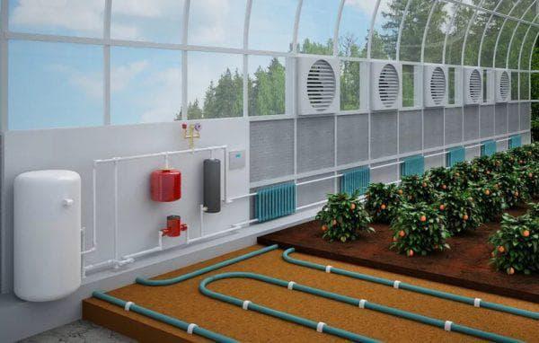 биологическое отопление зимней теплицы из поликарбоната
