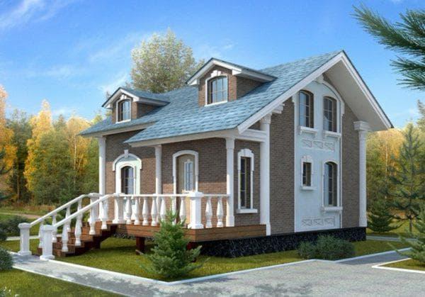 двухэтажный дом с мансардой 94 м2