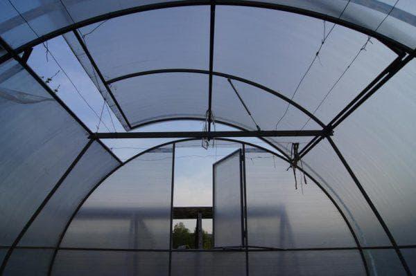 парники из поликарбоната с открывающейся арочной крышей