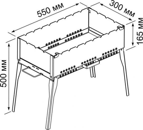 оптимальная длина мангала
