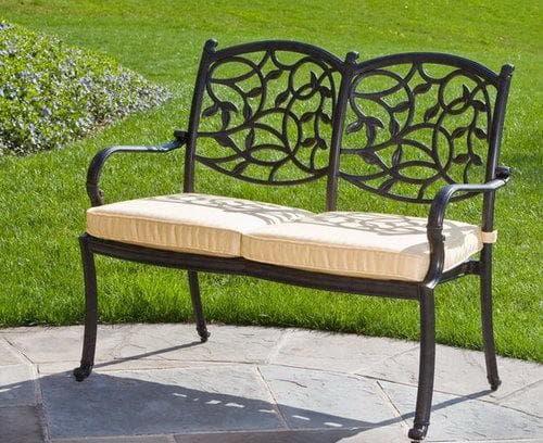 релаксационные скамейки из дерева и меттала