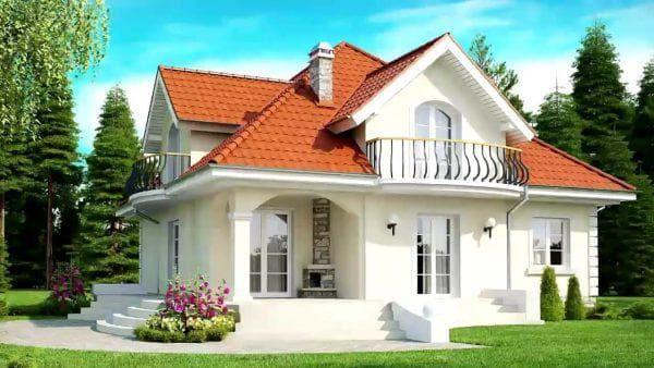 двухэтажный дом в американском стиле на 284 м2