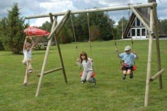 детские качели двойные для дачи