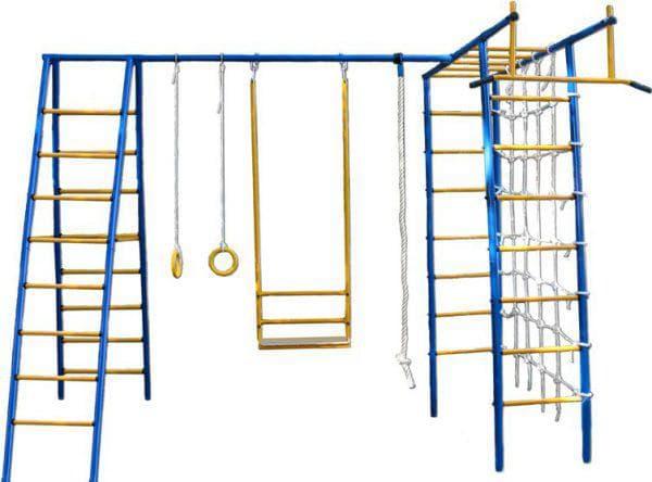 металлический уличный детский спортивный комплекс для дачи