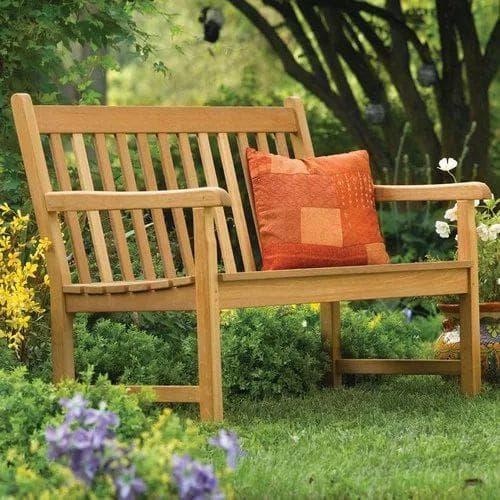 мобильная скамейка для дачи из дерева