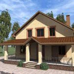 проекты домов из кирпича с гаражом