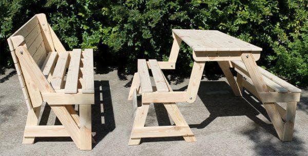 столик с лавочками