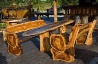 самодельные скамейки из дерева
