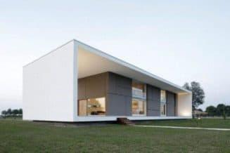 проект дома в стиле минимализма и функционализма