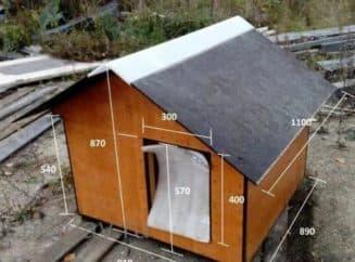 размеры собачьей будки для средней собаки