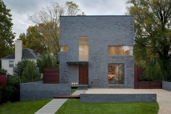 дом с плоской крышей 31 м2 квадратной формы