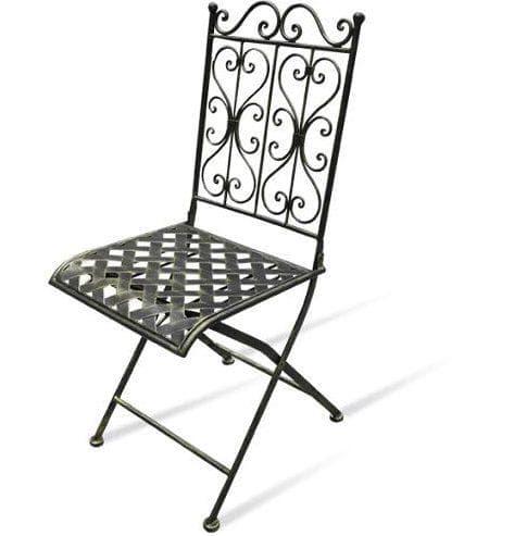 металлический стул летний для сада