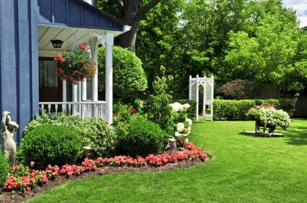 газон в пейзажном стиле
