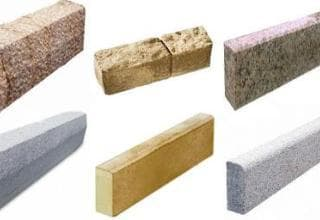 разновидности бордюрного камня