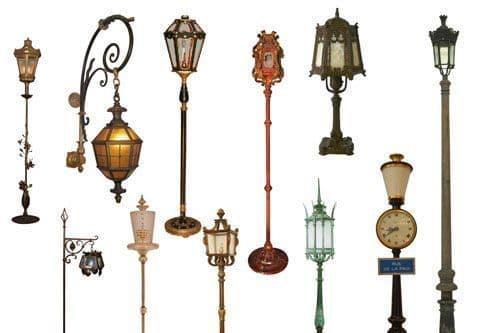 виды светильников уличного освещения