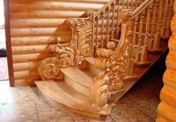 Отделка бетонной лестницы деревом в доме: цена, видео, фото
