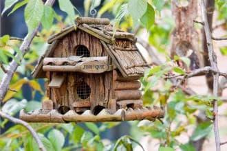 способы повесить птичий домик