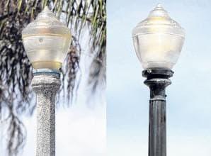 бетонированный осветительный столб