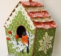 рождественский домик для птиц