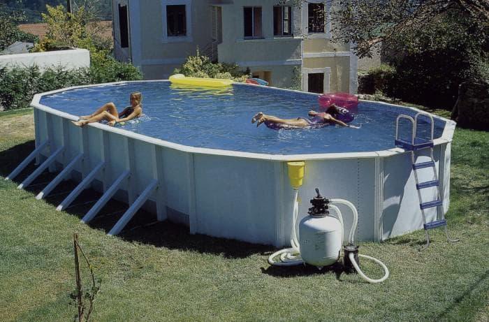 бассейн каркасный глубокий