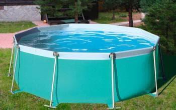 установка каркасных бассейнов