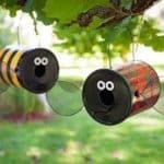 Поделки для сада — отличный вариант использования жестяных банок