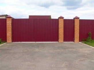 ворота из профнастила, калитка из профнастила