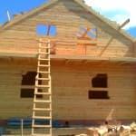 проект дома бани с мансардой из бруса