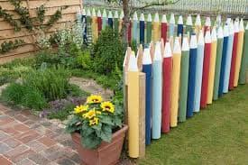 декоративный заборчик для сада и цветника