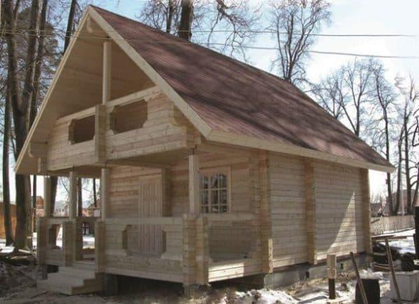 Процесс постройки деревянной бани