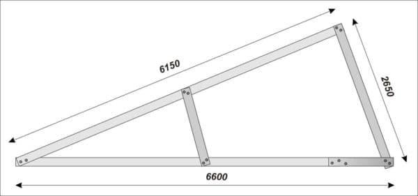 односкатная крыша чертеж