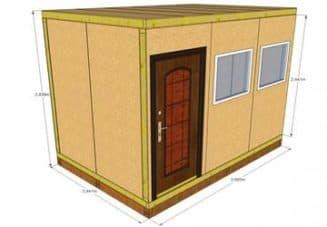 проект с дверью и окнами