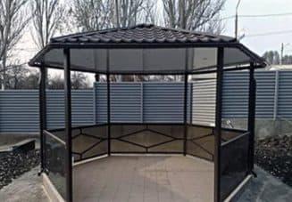 конструкция с шестигранной крышей