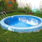 плавающее круглое покрывало для бассейна