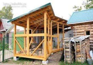 схема дровяника на приусадебном участке