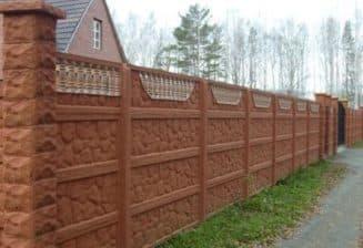 забор из бетонных секций, цена, установка, как самостоятельно сделать забор