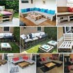 Делаем садовую мебель из поддонов