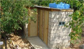душ и хозблок под одной крышей