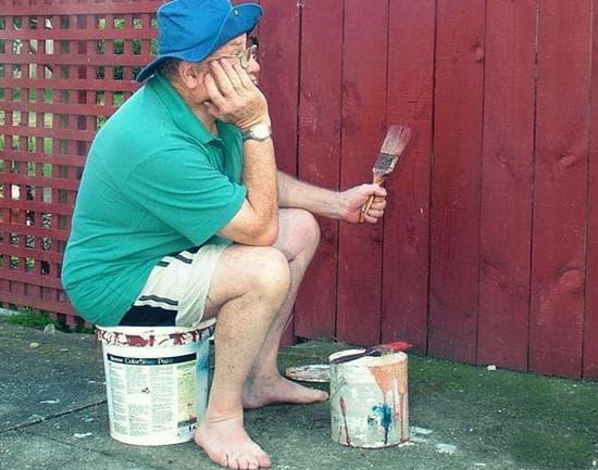 Покраска деревянных заборов