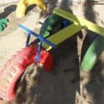 Поделки из шин для детской площадки — новая жизнь старых вещей