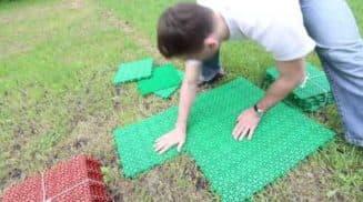 резиновое покрытие для дорожек в саду правила укладки