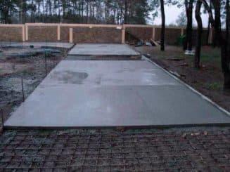 заливка бетона для тротуарной плитки
