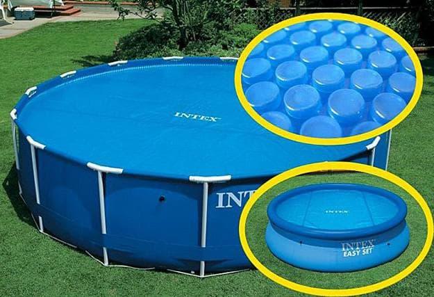 покрывало для бассейна плавающее уменьшает испарение воды летом