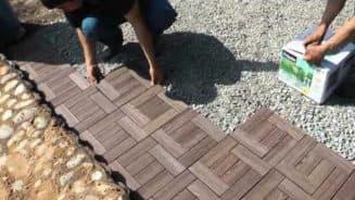 резиновое покрытие для дорожек в саду правила укладки своими руками