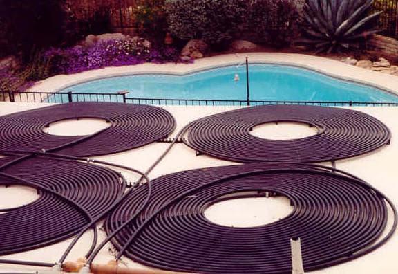 литка из шланга для нагрева бассейна