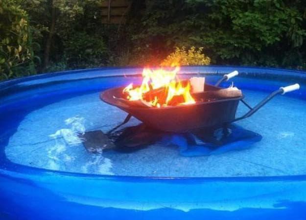 как нагреть воду в надувном бассейне