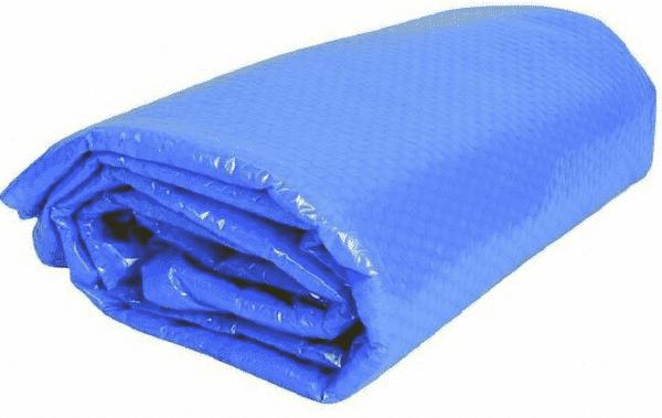 синее прозрачное покрывало для бассейна плавающее
